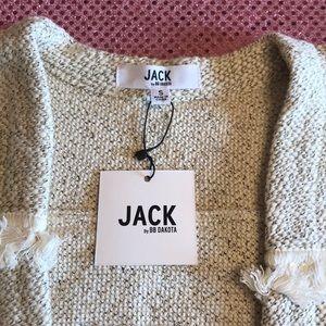 Jack by BB Dakota Jackets & Coats - Jack by BB Dakota Ivory Fringe Knit Jacket